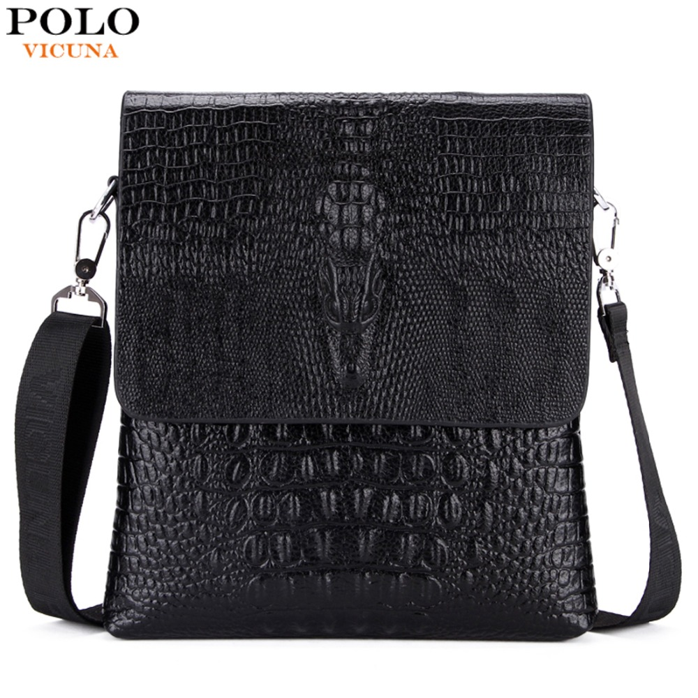 VICUNA font b POLO b font Personalized Alligator Pattern bolsa de couro Crocodile Cover Open Thin