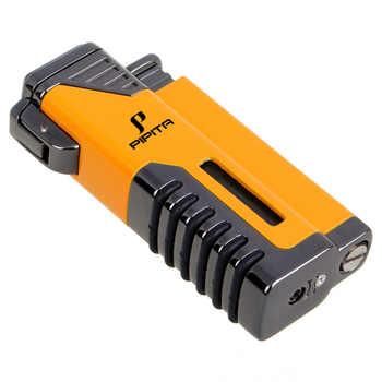 PIPITA ซิการ์ไฟแช็ก Windproof ไฟแช็กไฟฉาย Jet Flame เติมสี่เปลวไฟบุหรี่ไฟแช็กบิวเทนแก๊สไฟฉายไฟแช็ก