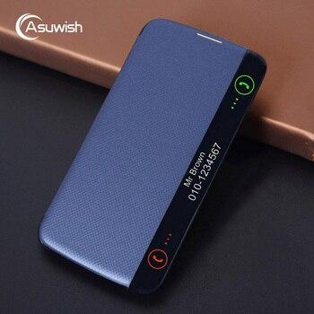 цена на Asuwish Flip Cover Leather Case For LG K10 LTE 2016 K 10 LGK10 K102016 K10LTE K420N K430 K430DS F670 Original Smart Phone Cases