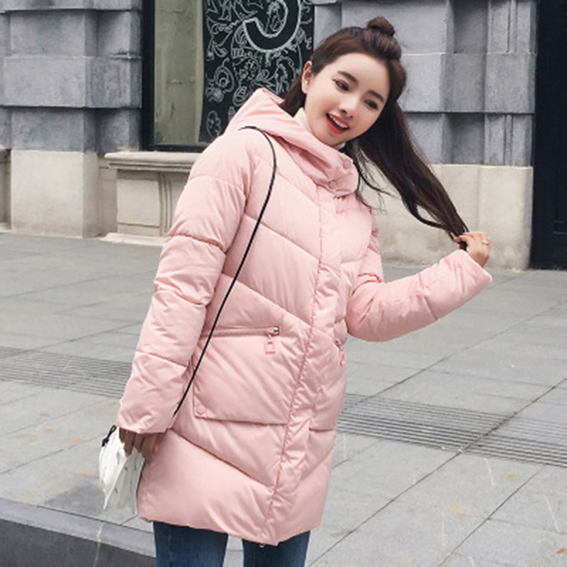 Parka   Women Winter Jacket Women Coats Hooded Coats Female Midi   Parka   Thick Padded Lining Winter Female Coats