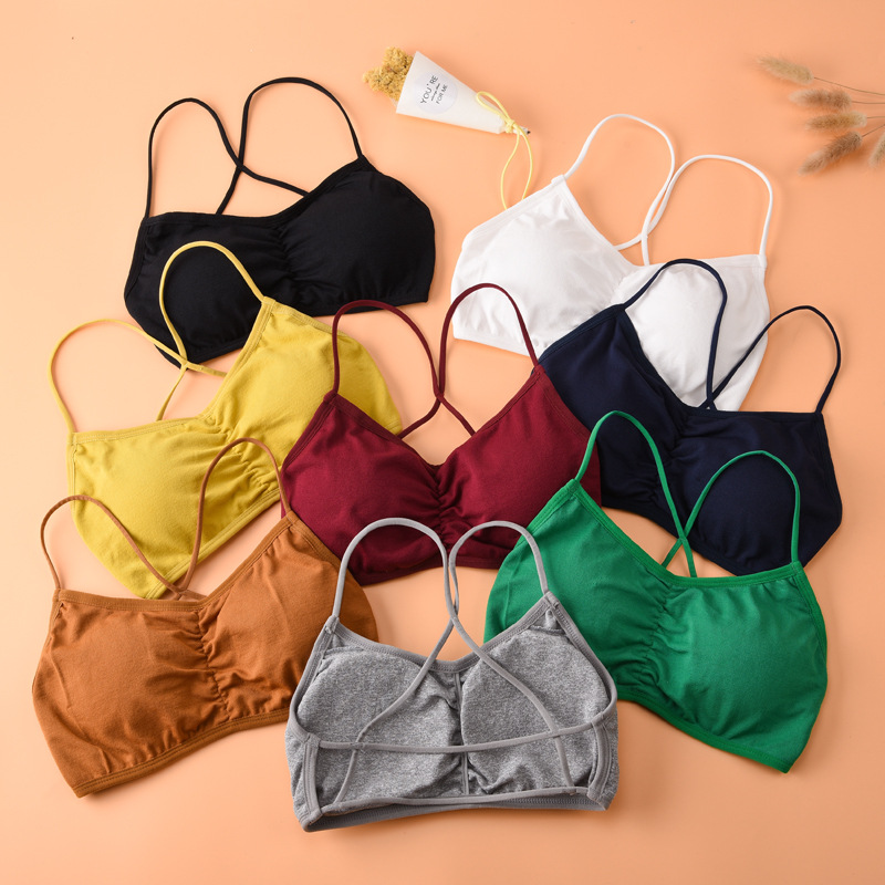 Women's Bra Ladies Sexy Underwear Female Casual Brassiere Gril Wire Free Bralette Running Fitness Active Bra Women Intimate