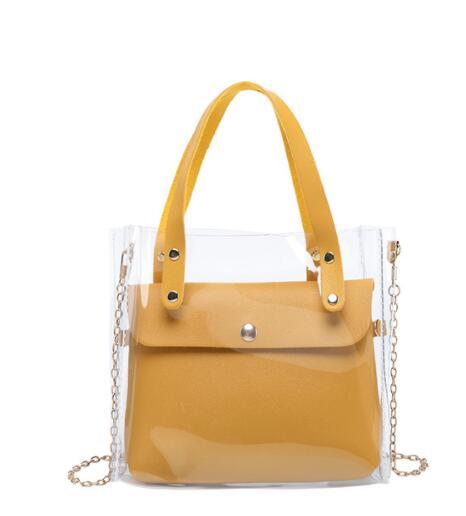Livraison gratuite Prici tui sac Transparent fille nouvelle mode tendance Mini sac Mini gelée mère sac à main épaule sac oblique