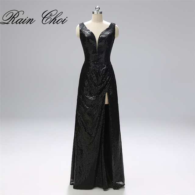 Sequins Formal Prom Gowns vestidos de noche Sexy Long Prom Dresses 2019