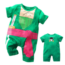 YiErYing High Quality Baby Clothing romper One Piece Roronoa Zoro Style Cotton Short Sleeve Jumpsuits Boy Clothes