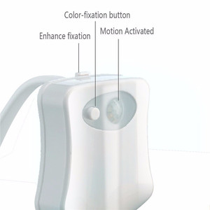 Image 2 - Automatic Change Colors LED Toilet Light Night Lamp Intelligent Body Motion Sensor Portable Seat Emergency Bathroom WC Light