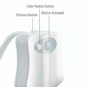 Image 2 - อัตโนมัติเปลี่ยนสีLED Light NightโคมไฟอัจฉริยะBody Motion Sensorแบบพกพาที่นั่งฉุกเฉินห้องน้ำWC Light