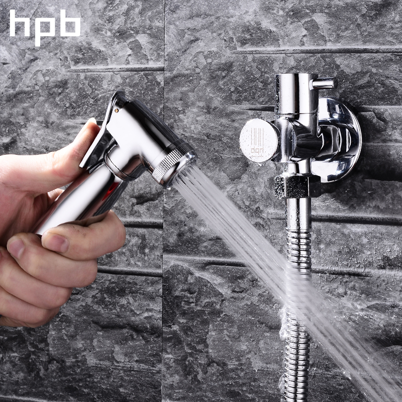 HPB Wall Mounted Brass Bathroom Toilet Sprayer Tap Single Hole  Bathroom Mop Cleaning Bidet Faucet With Handheld Bidet HP7006