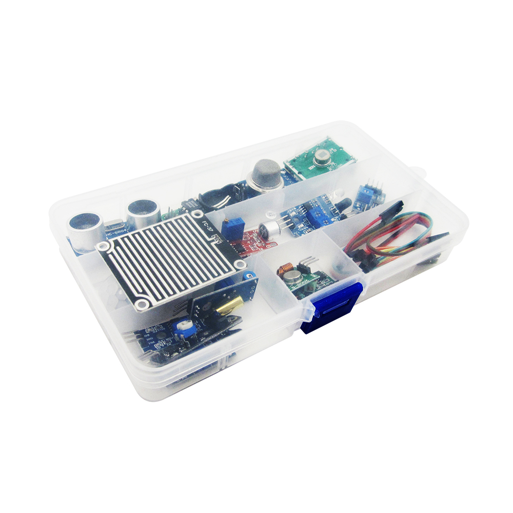 new 16pcs/lot  16 kinds of sensor in one box  Raspberry Pi 3&Raspberry Pi 2 Model B the sensor module package new lot of 1pcs cm15tf 12h module cm15tf12h