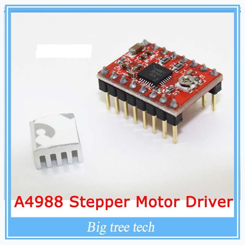 10pcs 3D Printer Kit A4988 Stepper Motor Driver Module with Heatsinks Reprap Board For 3D Printer Free Shipping!