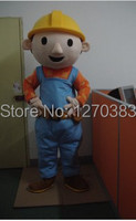 Hot Sales Adult Bob the Builder mascot costume Bob the Buildermascot costume Bob the Builder Free shipping