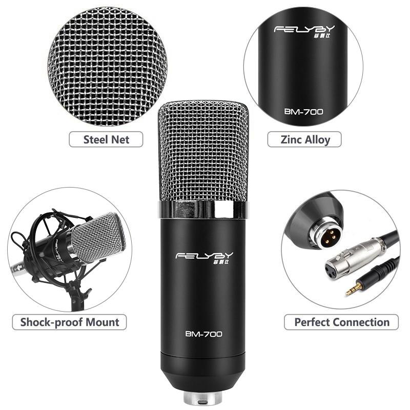 FELYBY BM700 Profesional de Alta Calidad de 3.5mm Micrófono con - Audio y video portátil - foto 2
