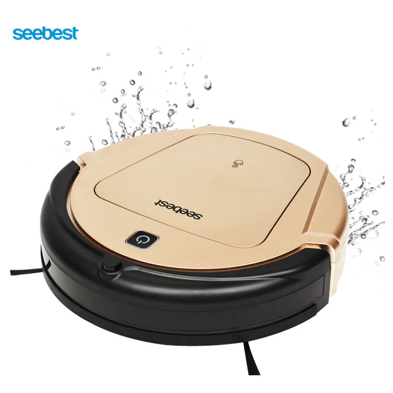 все цены на Seebest Turing 1.0 Gyroscope Navigation Planned Clean Route Robot Vacuum Cleaner with Time Schedule and Wet Mopping D750