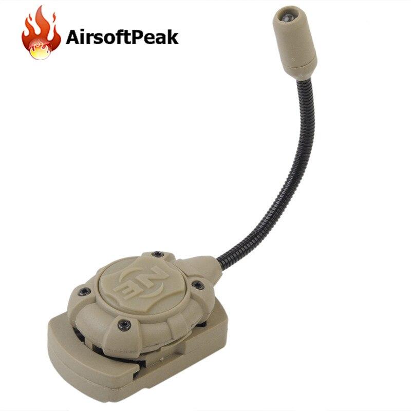 Prix pour Nuit Evolution Tactique Casque Signal Lumineux Lampe Armée Militaire Portable Projecteur pour En Plein Air Airsoft Vélo Motocross