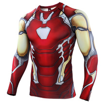 Iron Man  2019 New 3D Compression Shirt Printed T shirts Men Cosplay Quick-drying clothes For Gyms Shirts
