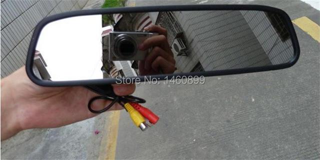 Alta Calidad! Nueva Versión 4.3 Pulgadas TFT lcd de Coches de Visión Trasera de Aparcamiento Monitor del espejo Retrovisor Monitor/sistema PAL y NTSC/2 VA