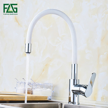 FLG Kitchen Faucet Silica Gel Nose Any Direction Rotating Tap Cold and Hot Water Mixer Torneira Cozinha Single Handle Tap flg free shipping kitchen faucet white painting 360 degree rotating cold and hot single holder single hole water tap mixer c032w