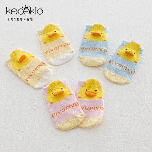 Kacakid Cheap Stuff Children Kids Boys Girls Cotton Anti-slip Socks Meias Infantil Para Meninas New Born Baby Animals Duck Sock