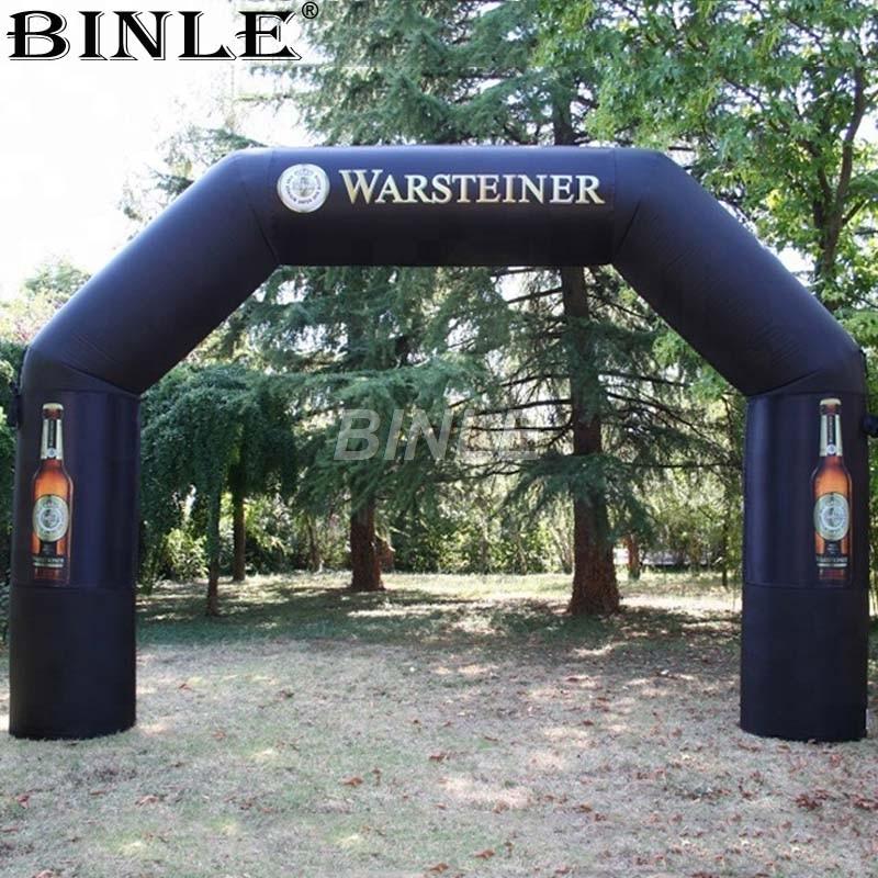 Mini arc gonflable de publicité noire portative de 4 m avec l'impression de Logo pour la Promotion