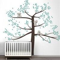 Spring Koala Tree Vinyl Wall Decal Removable Wall Sticker Tree Nursery Vinyls Baby Room Decor Wall