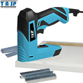 TASP 220V 2 in 1 Electric Nailer and Stapler Furniture Staple Gun for Frame with Staples & Nails Carpentry Woodworking Tools