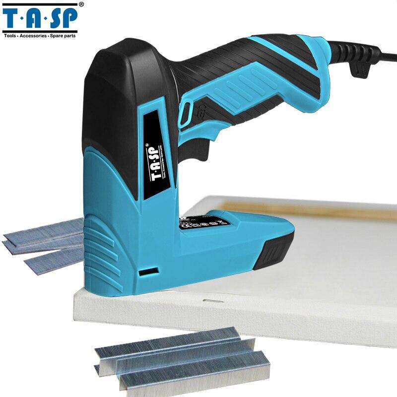 TASP 230V 2 em 1 Nailer Elétrica e Mobiliário Grampeador Pistola de Grampo para o Quadro com Grampos & Unhas Carpintaria ferramentas para trabalhar madeira