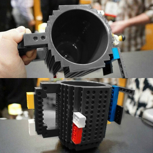 350ml Milk Mug Coffee Cup Creative Build-on Brick Mug Cups Drinking Water Holder for LEGO Building Blocks Design 4