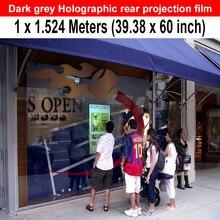 3.28 футов x 5 футов темно-серый Голографическая Плёнки/обратной проекции Экран Плёнки с высокой контрастностью Высокое разрешение