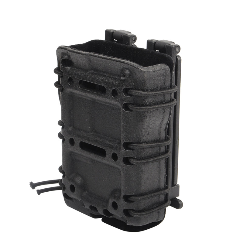 Military Molle Belt Pouch Tactical .45Cal .556Cal 9mm Magazine Carrier Vest Holster Bag With Inner Flocking Protection