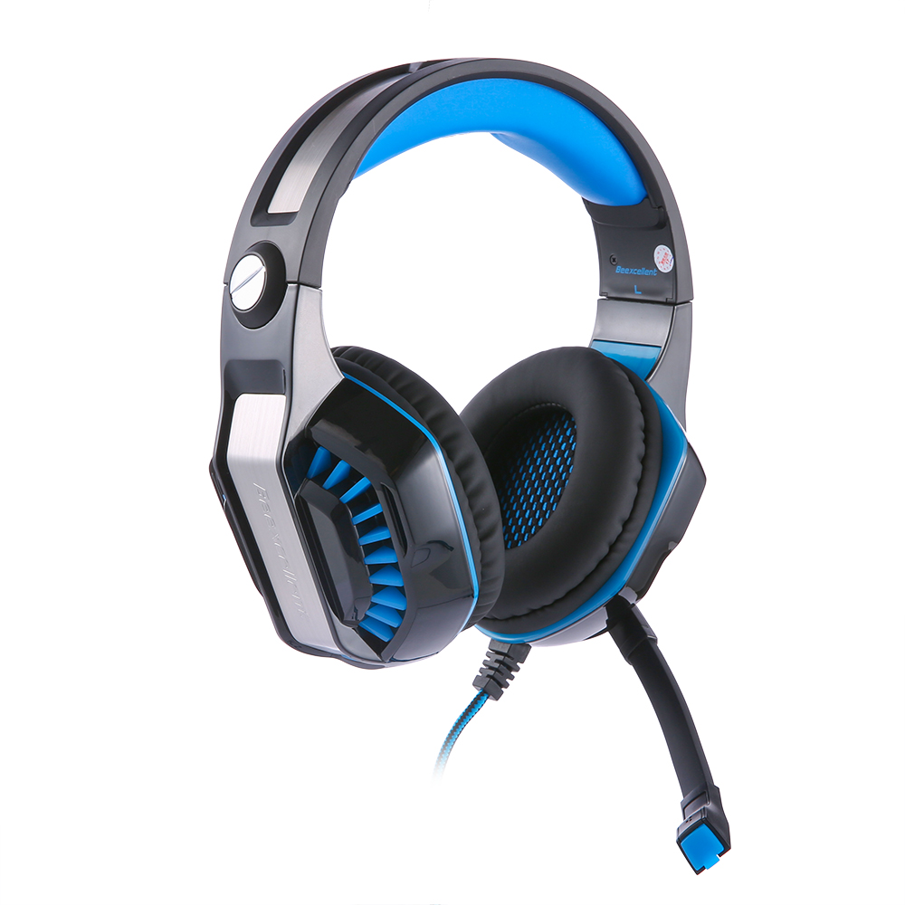 Beexcellent GM-2 Surround Sound Gaming Headset Headband Bass Game Earphone with Mic LED Light for PS4/XBOX ONE/laptop pk g2000 peppa pig игровой набор машина пеппы 19068