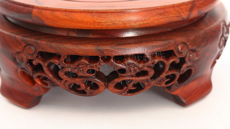 Rosewood carving furnishing articles household act the role ofing is tasted of Buddha household solid wood crafts circular base household act the role ofing is tasted mahogany wood carving handicraft circular base of buddha stone are recommended
