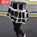 2017 высокая талия бутон обертки искусственного двух частей юбка леггинсы плюс размер женщин длинные брюки