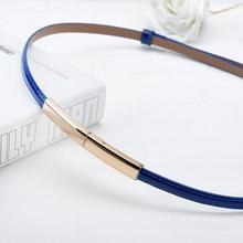 Women's Cute Leather Thin Belt