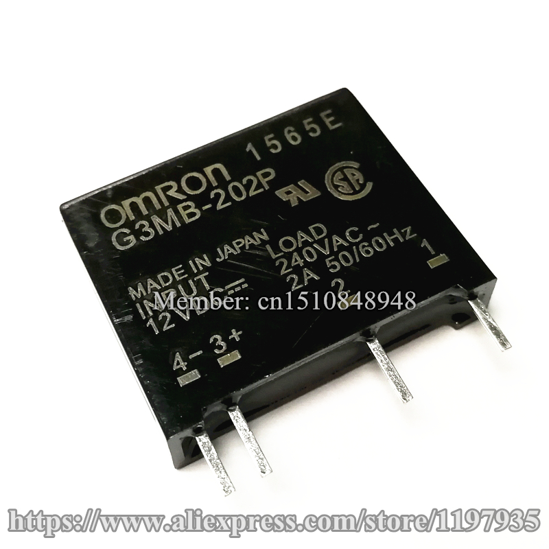 New original solid state relay G3MB 202P DC AC PCB SSR In 5VDC 12VDC 24VDC Out