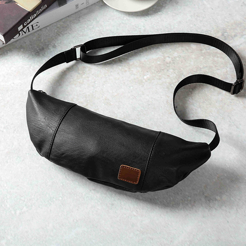 2019 New Fashion Trend Men Waist Bags Black Large Capacity Chest Bag Male Casual Travel Crossbody Shoulder Bag Handy Fanny Pack