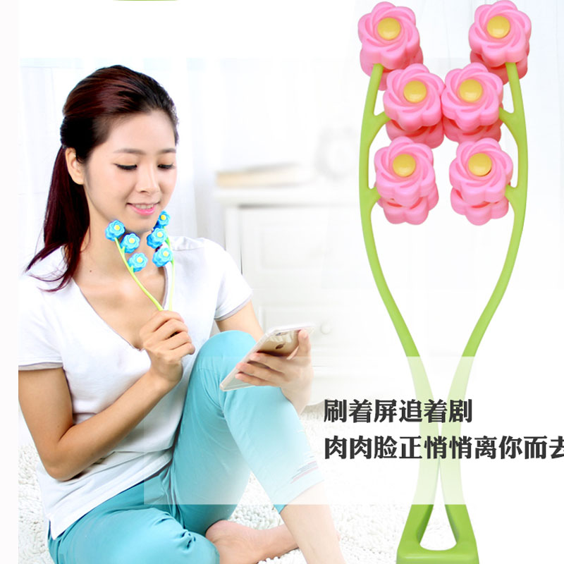 Portable Facial Massager Roller Flower Shape Elastic Anti Wrinkle Face-Lift Slimming Face Face Shaper Relaxation Beauty Tools jade massage roller face massager facial relaxation slimming tools face relif anti wrinkle anti cellulite body massage tool girl