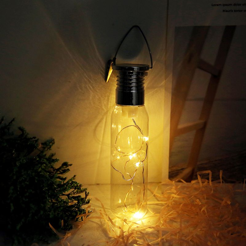 Holiday Solar LED Home Bottle For Wire Hanging Decorative Night Christmas Garden Light Copper Clear Light
