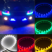 1pcs 30cm 15LED 12V Car Bike SMD Truck Flexible Waterproof Lights String Strip White/Red/Yellow/Green/Blue Color