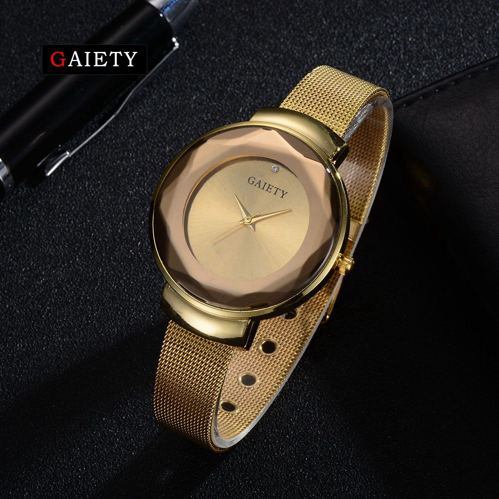 Gaiety Luxury Brand Women Watches 2017 Fashion Creative Vintage Gold Ladies Business Sport Quartz Female Clock Relogio G479
