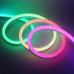 Image 1 - Pilot bezprzewodowy o wysokiej jasności adresowalny piksel wodoodporny WS2811 kolorowy Neon 5m 12V WS2811 Neon led oświetlenie fluorescencyjne