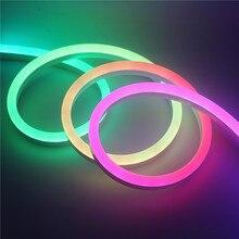 Yüksek parlaklık kablosuz uzaktan kumanda adreslenebilir piksel su geçirmez WS2811 renkli Neon 5m 12V WS2811 LED Neon şerit aydınlatma