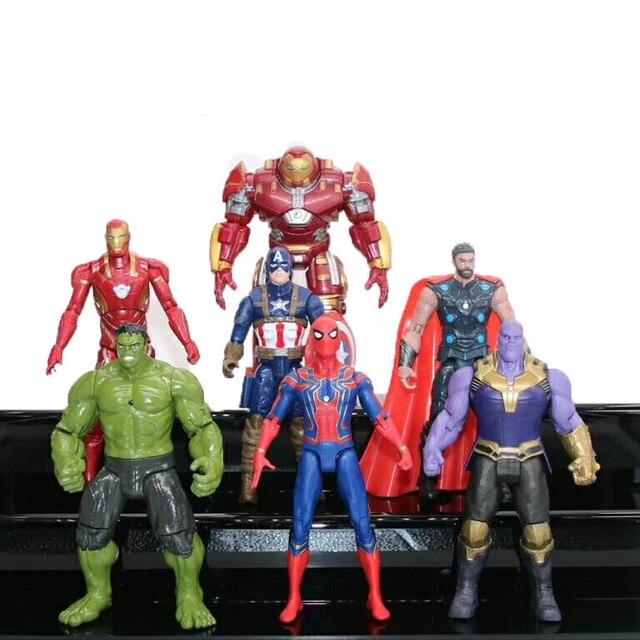 Marvel Avengers Figuras Infinito Guerra Super-heróis Homem De Ferro Hulk Capitão américa Conjunto Modelo de Figura de Ação DO PVC Brinquedos Presente Para As Crianças # E