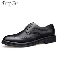 Italian Designer Black Grey Brogue Shoes Men Formal Dress Oxfords Slip On Fashion Moccasin Male Pointed Toe Flat Shoes