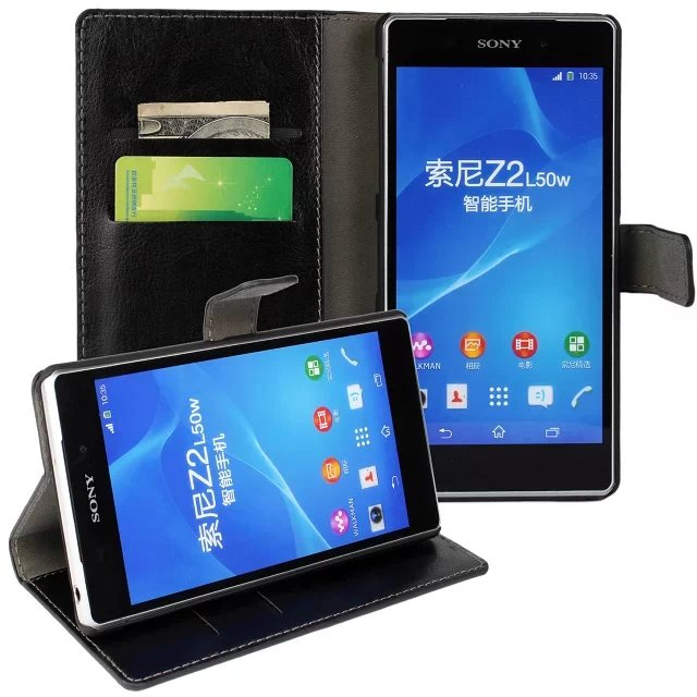For <font><b>Sony</b></font> <font><b>Xperia</b></font> <font><b>Z2</b></font> Cover <font><b>Case</b></font> Wallet Leather Book Purse Mobile <font><b>Phone</b></font> Bag Shell Pouch Coque Fundas Cover <font><b>Case</b></font> For <font><b>Sony</b></font> <font><b>Xperia</b></font> <font><b>Z2</b></font>