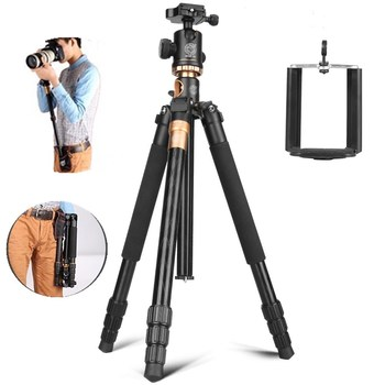 Original QZSD Multifunction Aluminium Q999H Center Column Mechanism Camera Tripod Ball Head for Phone Canon Nikon SONY DSLR