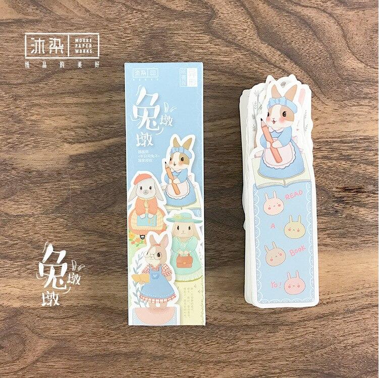 150 шт./1 лот мультфильм кролик pier Бумага Закладки закладки для книг/Share/закладки для книг/tab для книг/ канцелярские W-SQ-396