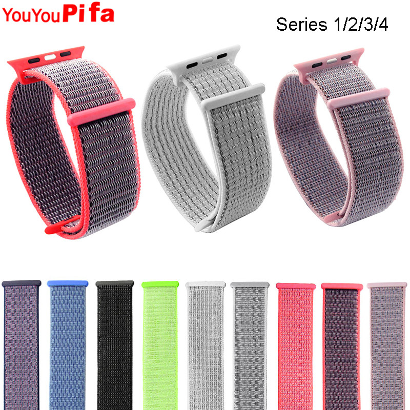 Nylon Loop Watchband 38mm 42mm Colorful Soft Breathable Watch Strap 40mm 44mm Men Women Sport Bracelet Replacement Watch Band
