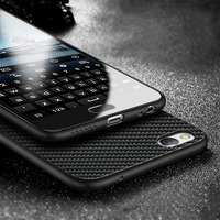 Carbon Fiber Case For OPPO R9s Frosted Soft TPU Back Cover Phone Cases Ice Silk Texture
