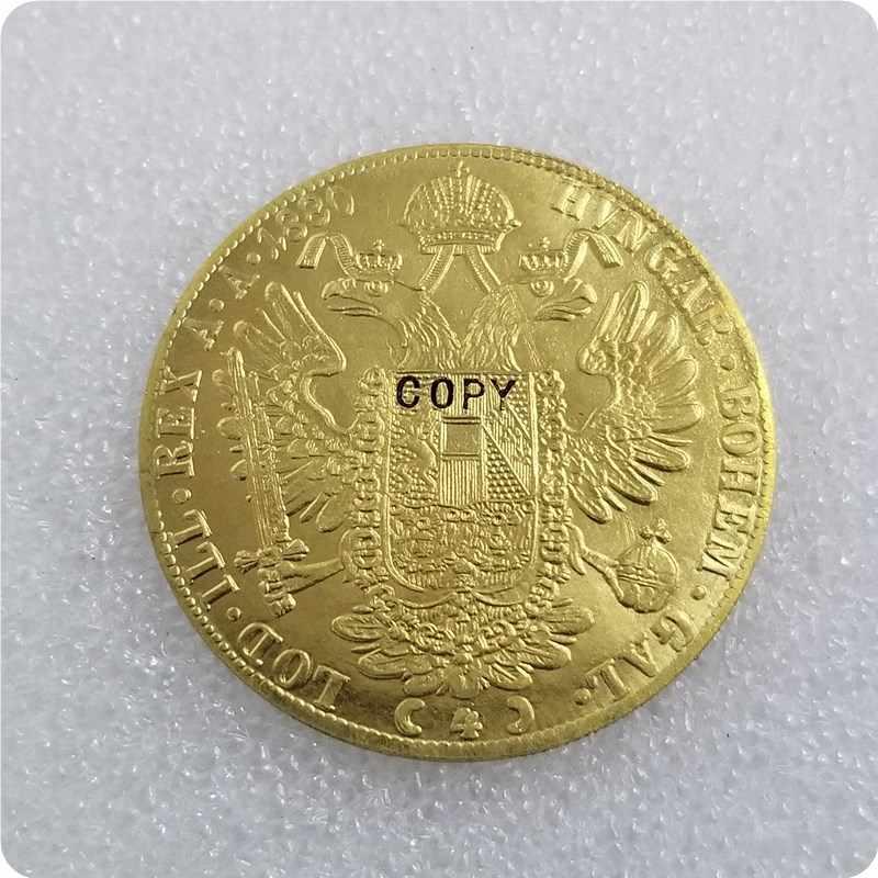1873-1894 Áo 4 Ducat Đồng Tiền Vàng BẢN SAO