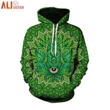 Alisister зеленый Сорняк принт 3D толстовки Толстовка для мужчин женщин  осень 2019 г. Зимний спортивный костюм забавные Sudadera. 0490fbfdf67c4