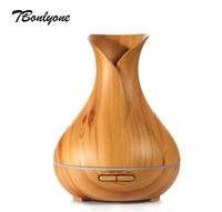 TBonlyone 400ML Ultrasonic Humidifier Essential Oil Aroma Diffuser Aromatherapy Air Purifier Mist Maker Light Wood Grain
